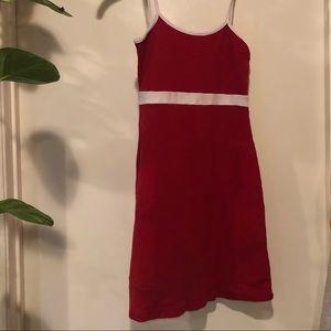 red, white stripe brandy melville mini dress
